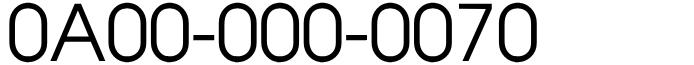 フリーダイヤル良番ラッキーセブン!0A00-000-0070