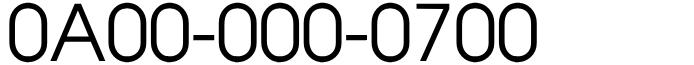 フリーダイヤル良番ラッキーセブン!0A00-000-0700