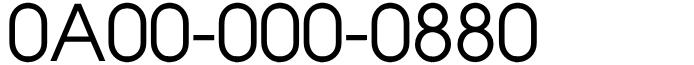 フリーダイヤル良番0と8のみ!商売繁盛末広がり0A00-000-0880