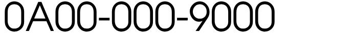 千番台フリーダイヤル良番0A00-000-9000