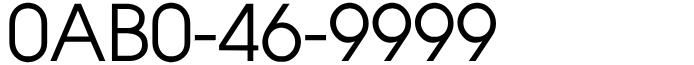 ぞろ目番号フリーダイヤル良番0AB0-46-9999