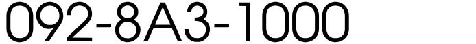 福岡県福岡市早良区西新近郊固定電話良番:人気の1000番!092-8A3-1000